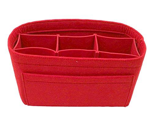 LEXSION Felt Handbag Organizer,Insert purse organizer Fits Speedy Neverfull Red M by LEXSION (Image #4)