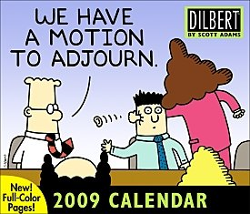 Click for larger image of Dilbert 2009 Page Per Day Calendar