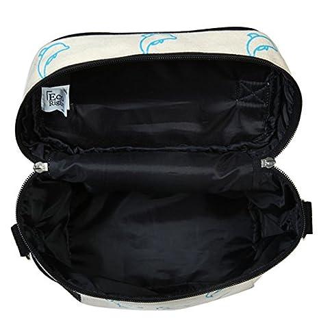 Adults PrintedDandelions 0803S03 - EcoRight Lunch Bag Reusable Cotton Canvas EcoFriendly Insulated Cooler Washable Zipper for Men Women Blue