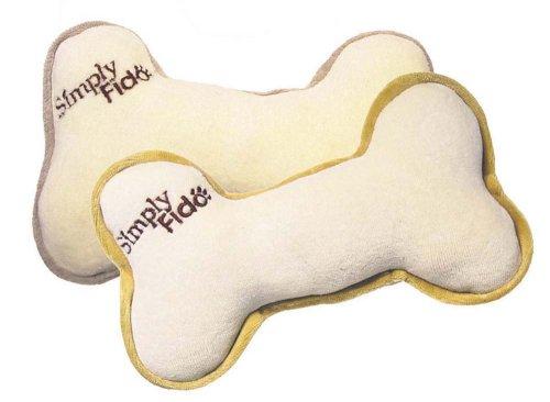Simply Fido Organic Plush Bone Pet Toy, Large, My Pet Supplies