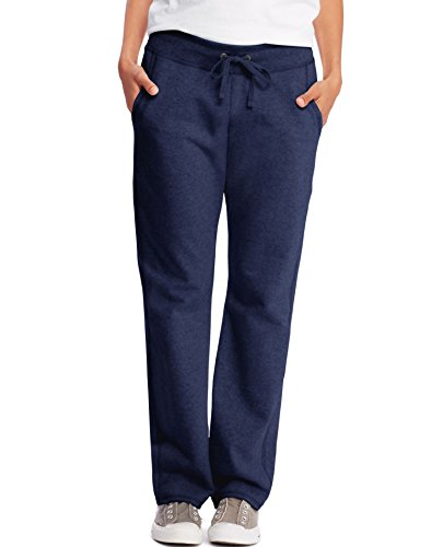 Hanes Womens French Terry Pocket Pant O4677_Navy_XL