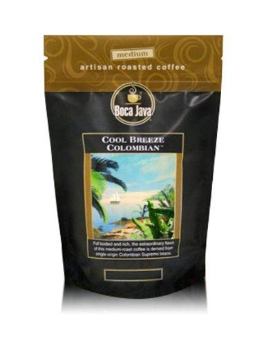 Colombian Coffee, Cool Breeze Colombian, 100% Specialty Arabica, Medium Roast, Whole Bean, 8oz (2 Pack) ()