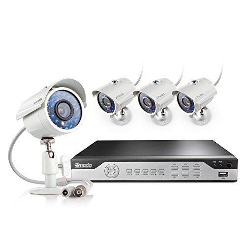 Zmodo KHI4-YARUZ4ZN 4-Channel H.264 960H DVR Security System with 4 700TVL IR Cameras (White)