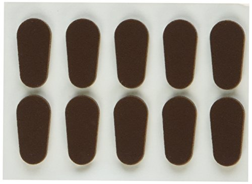 GMS Optical Soft Foam Nose Pads - Coffee Color (10 - Stick Glasses Nose For Pads On