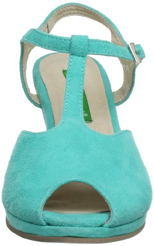 Andrea Conti 0615317 - Sandalias de cuero para mujer Azul (Blau (aquamarin 018))