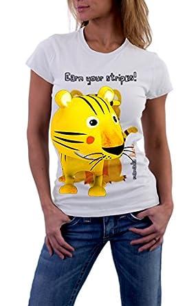 MANADA - Camiseta de tigre para mujer con Realidad Aumentada en 3D: Amazon.es: Ropa y accesorios