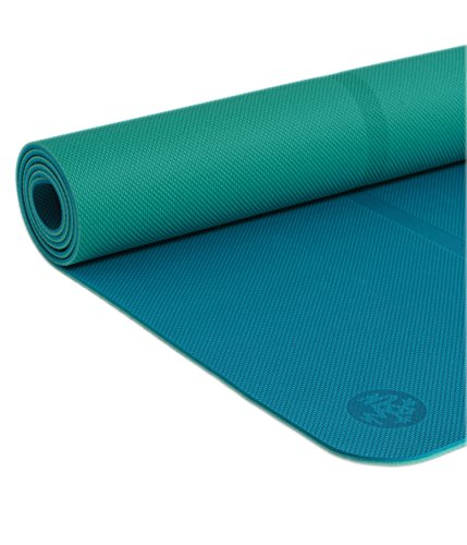 Manduka Welcome Yoga Mat - Premium 5mm Thick Yoga Mat with Alignment Stripe. Reversible, Lightweight with Dense Cushioning for Support and Stability in Yoga and Pilates. (Manduka Pro Black Yoga Mat)