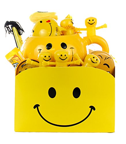 Smiley Face Happy Day Gift Basket, Full of Sunshine and Smiles (Small) (Gifts Face Smiley)