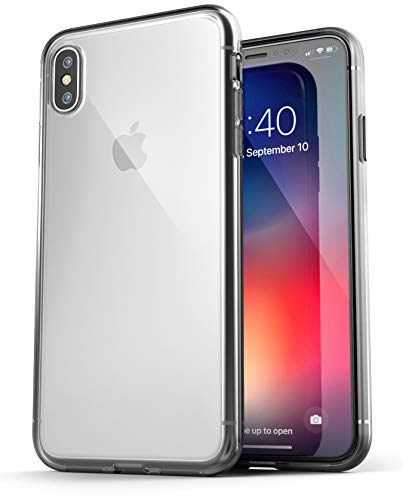 Encased iPhone XS MAX Clear Case Slim, Ultra Thin Scratch Resistant Transparent Cover (Protective Grip Bumper) for Apple iPhone XS MAX Phone