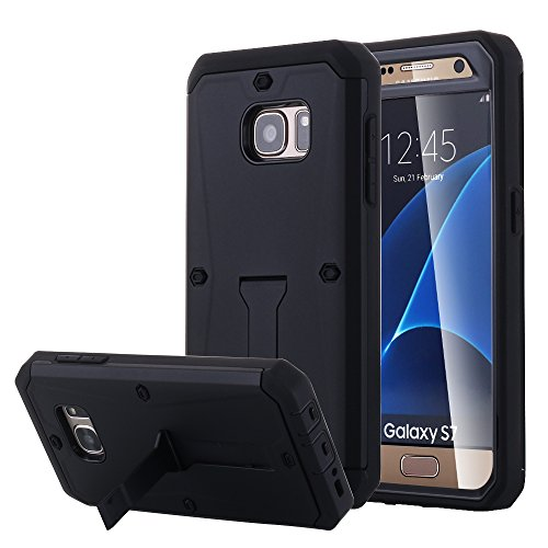 Galaxy S7 Case, Pandawell™ [Built-in Screen Protector ] [Kickstand Feature] Hybrid Dual Layer Armor Defender Full Body Protective Case Cover for Samsung Galaxy S7 - (Kickstand Case Screen Protector)