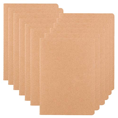 (12 Pack Notebook Journals for Travelers, Students and Office, Writing Sketchbook Memo Diary Subject Notebooks Planner with Blank Paper, 60 Pages, 30 Sheets, 8.3x5.5 inch, A5 Size, Travel Journal)