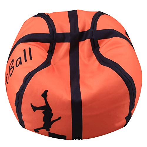 Basketball Stuffed Animal Bean Bag Storage Chair, Small Cotton Canvas 26