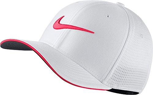 (Nike Classic 99 Mesh Golf Cap 2017 White/Siren Red/Anthracite Medium/Large)