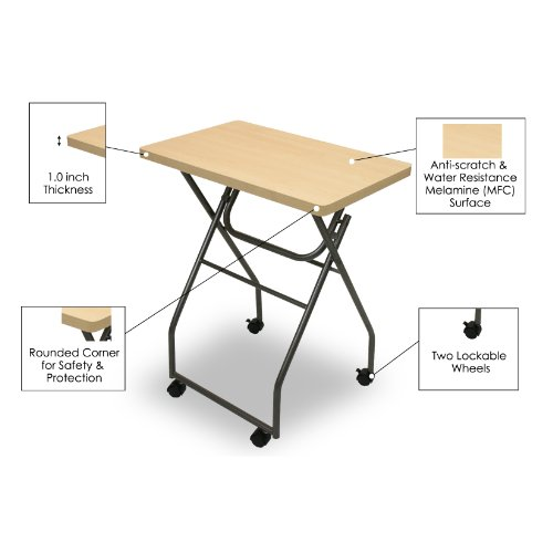 Amazon.com: Furinno 11043MP/GY Easi Folding Multipurpose Tray Table,  Maple/Grey: Kitchen U0026 Dining