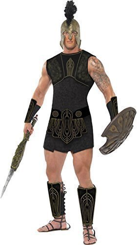 Adult Mens Sexy Achilles Greek Roman Gladiator God Myths Legends Hero Historical Fancy Dress Costume Outfit (Large) ()