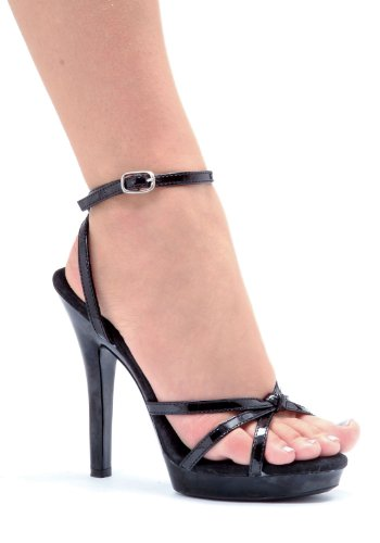 - Ellie Shoes Women's 5 Inch Heel Strappy Sandal with Ankle Strap (Black;10)