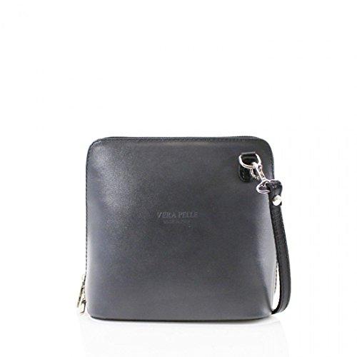 Vera Pelle Leather Shoulder Bag Womens Default Gray