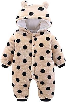 krafbean Baby Infant Flannel Winter Rompers Thicken Jumpsuit Pajamas