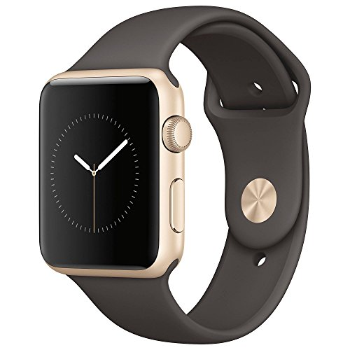 Apple 1 42mm Series (Gold Aluminum Case, Cocoa Sport Band) by Apple
