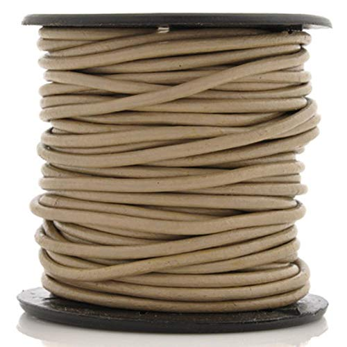 Leather Cord-2mm Round-Soft-Beach-10 Meter Spool