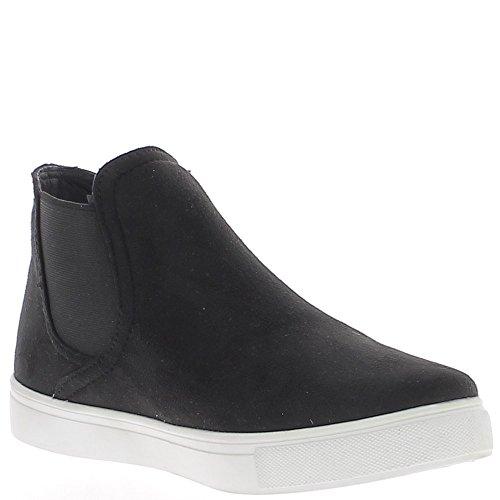 Zapatillas zapatos de mujer negro terciopelo aspecto con blanco suela gruesa