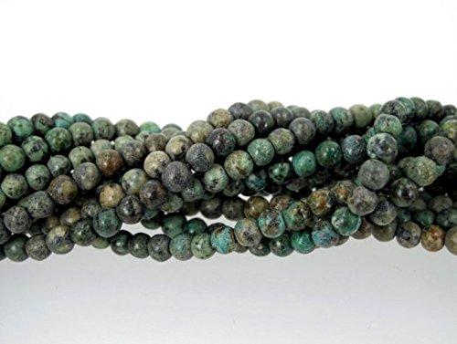 jennysun2010NaturalAfrican Turquoise Gemstone 3mm SmoothRoundLooseBeads Length15.5''Inches(38.5cm)1StrandperBagforBraceletNecklaceEarringsJewelryMakingCraftsDesignHealing