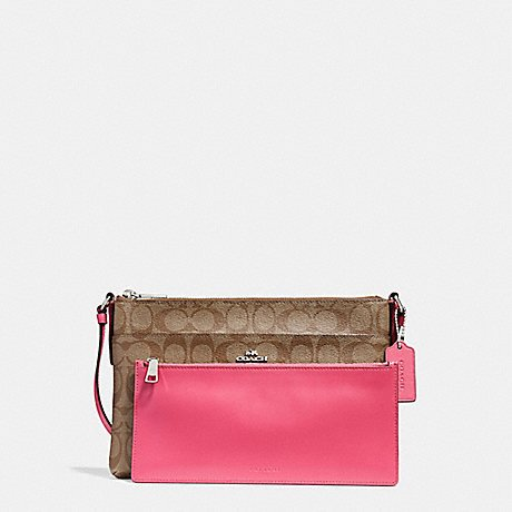 COACH EAST/WEST CROSSBODY WITH POP-UP POUCH (F58316)