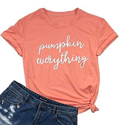 Pumpkin Everything T-Shirt Women Halloween Short Sleeve Funny Casual Tee Tops Blouse