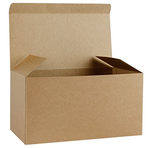 RUSPEPA Recycled Cardboard Gift Boxes - Large Decorative Box with Lids for Christmas, Birthdays, Holidays, Weddings - 12