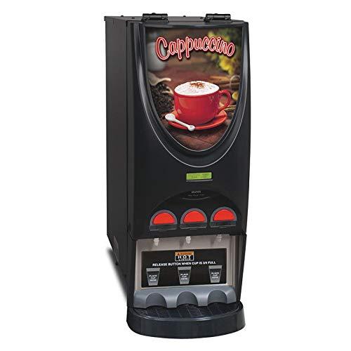 Bunn IMIX-3-0050 Hot Beverage Dispenser w/ (3) 8-lb Hoppers & 4.5-gal Hot Water Tank, Cappuccino (36900.0050) ()