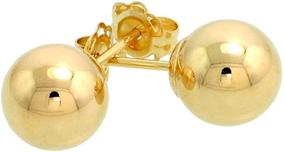 14k Yellow half Gold Max 61% OFF 7mm Ball Earrings Studs