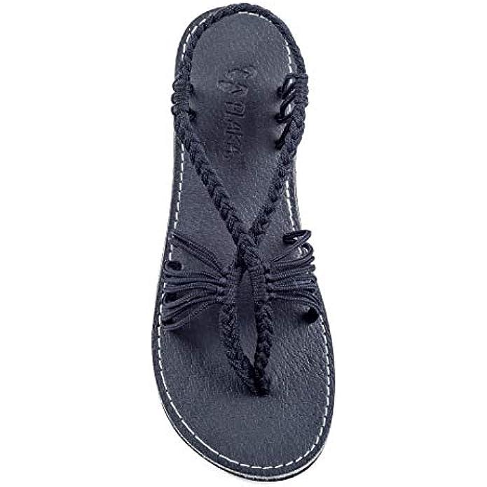 Plaka Flat Summer Sandals for Women Seashell