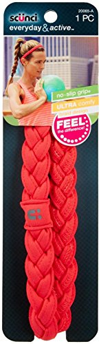 Scunci NS Thick Braided Stretchy Headwrap - Coral (Braided Headwrap)