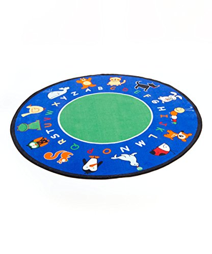 Learning Carpets CPR400 - Fun with Animals Round, - Carpets Animals Learning Abc