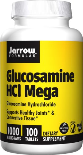 Jarrow Formulas Glucosamine HCl Mega, Supports Healthy Joints & Connective Tissue, 1000 mg, 100 Easy-Solv Tabs (Glucosamine Hcl)