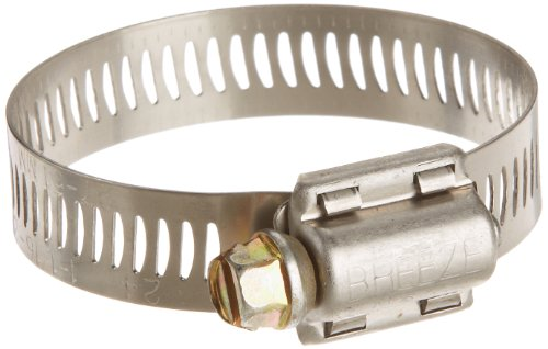 Steel Worm Stainless - Breeze Power-Seal Stainless Steel Hose Clamp, Worm-Drive, SAE Size 24, 1-1/16