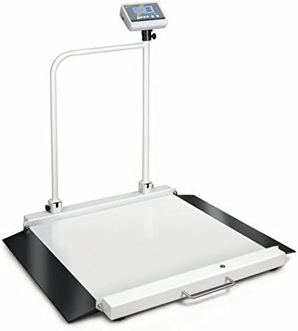 Báscula para silla de ruedas con rampas integradas [Kern MWA 300K-1PM] para un acceso cómodo y con autorización de calibración y médica para el uso profesional, Campo de pesaje [Max]: 300 kg