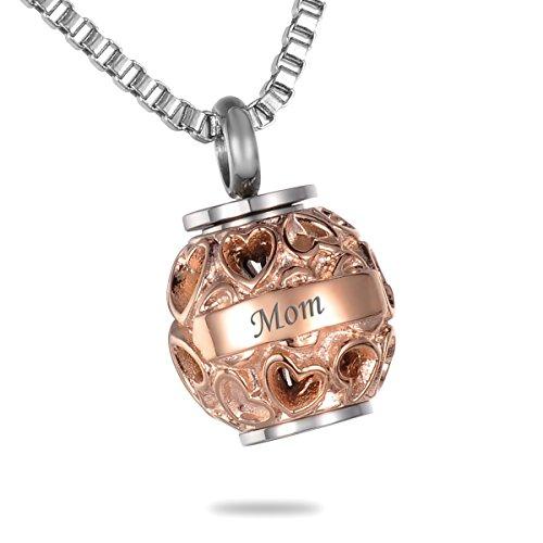 gold ash necklace urn - 9