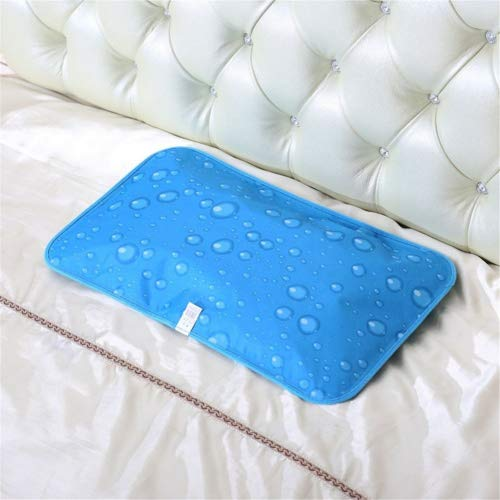 LL-COEUR Summer Cooling Pillow Cold Ice Mat Gel Water-filled Beach Cushion for Adult Duet (Colour 1, 30cm x 60cm - Adult)