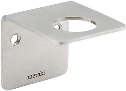 Image of Meraki Supply Soporte de Pared con Acabado Plateado Cepillado, Talla única