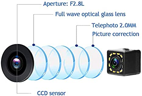 aSATAH 12 LED Car Rear View Camera for Jeep Compass 2011~2015 Jeep Patriot 2011~2015 12 LED Jeep Liberty 2011~2015 /& Vehicle Camera Waterproof and Shockproof Reversing Backup Camera