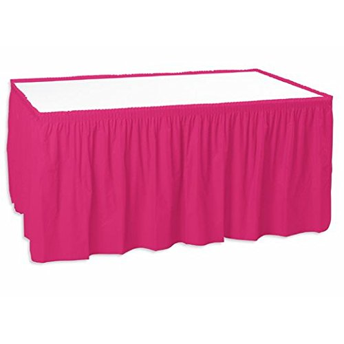 Hot Pink Table Skirt -