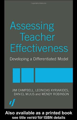 Assessing Teacher Effectiveness: Different models