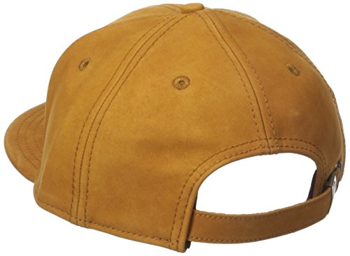 Timberland Mens Nubuck Leather Flat Brim Cap With Metal Charm