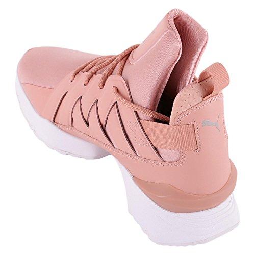 Puma Muse Echo Satin EN Pointe WomenS, Peach Beige White Pink
