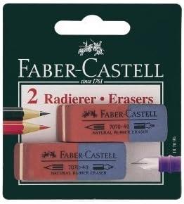 10 x Faber Castell goma de borrar 7070-40 grande rojo/azul en caja ...