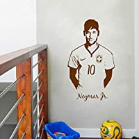 Neymar Junior Soccer Etiqueta de la pared Sports Football Player ...