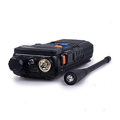 Baofeng UV-5R+ High Power 8/4/1W 3800mAh Two Way Radio Dual Band Ham Radio Transceiver(Black): Car Electronics