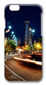 Atlanta at night Custom For Iphone 4/4S Case Cover Polycarbonate 3D