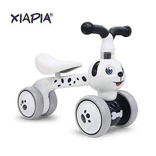 XIAPIA Baby Toddler Tricycle Bike No Pedals 10-36 Months Ride-on Toys Gifts Indoor Outdoor Balance Bike for One Year Old Boys Girls First Birthday Thanksgiving Christmas (Dalmatian)